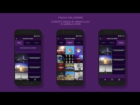 Android App Design   Photoshop SpeedArt