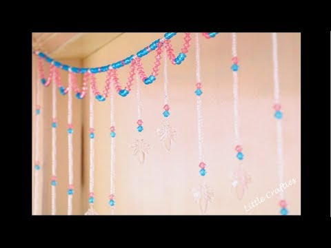 Handmade Door Hanging TORAN | Glass Beads Curtain | DIY Home Decor Ideas | Little Crafties