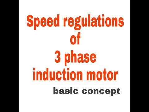 Speed regulations of 3 phase induction motor electrical capsule