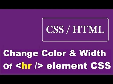 How To Change The Color Of hr Element Using CSS