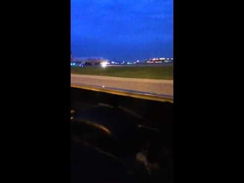 Driving On Taxi Way At DFW Airport