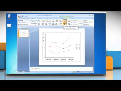 How to show & hide Gridlines in Line Graphs in PowerPoint 2007