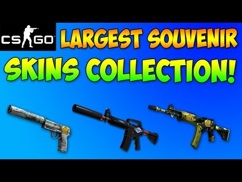 CS GO - Largest Souvenir Gun Skins Collection Ever! Rare CSGO Skins Inventory Showcase!
