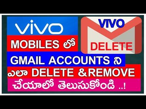 How To Delete Gmail account in vivo android mobiles phones in telugu 2017    Telugutechworld