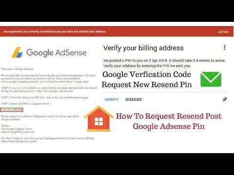 How To Request New Pin Google Adsense Verification Code Resend Post