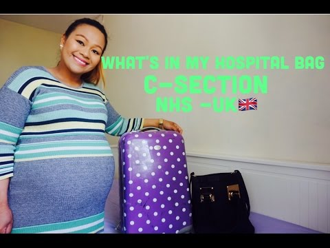 WHAT'S IN MY HOSPITAL BAG? C-SECTION |  NHS UK 🇬🇧 (37 WEEKS PREGNANT)