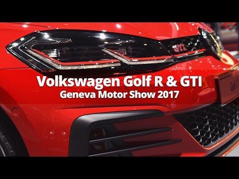 Volkswagen Golf R & Golf GTI at Geneva Motor Show 2017
