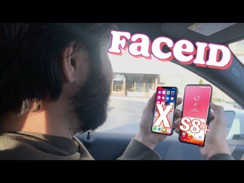 iPhone X VS Galaxy S8 Plus || Face ID Hack Comparison