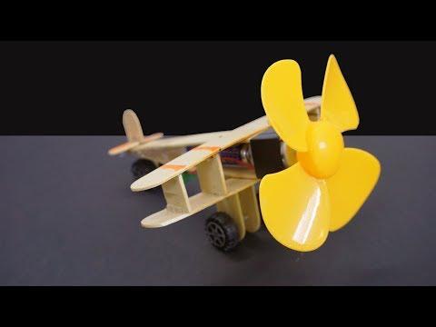 Cómo Hacer un Avión Eléctrico Casero de Juguete de Madera con Motor