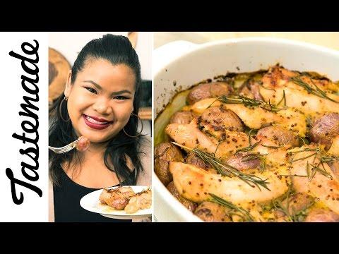 Honey Mustard Chicken Bake l The Tastemakers-Jen Phanomrat
