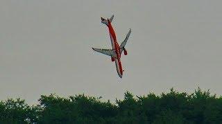 BRUTAL RC AIRLINER CRASH !!! AIRBUS A-330-300 MODEL JET DEEP IMPACT !!! TOTAL DESTROYED