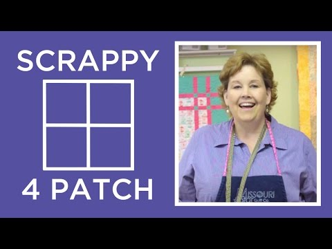 The Scrappy 4 Patch Quilt Tutorial
