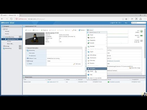 Delete a Virtual Machine on VMware vSphere Hypervisor ESXi 6.5