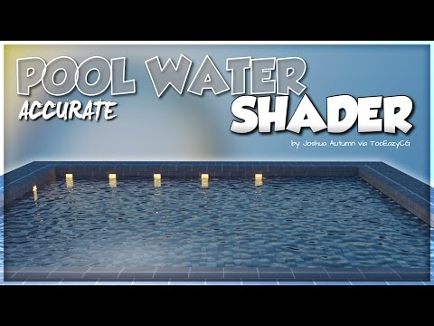 Accurate Pool Water Shader (material & displacement set up) || Blender Tutorial