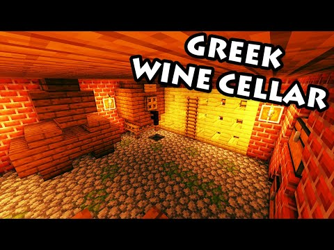 Minecraft Tutorial #33 - Greek House - How to Build a Wine Cellar (HD)