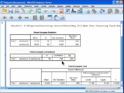 Paired Samples t-test - SPSS