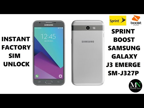 SIM Unlock Sprint / Boost / Virgin Samsung Galaxy J3 Emerge For Use On GSM Carriers!