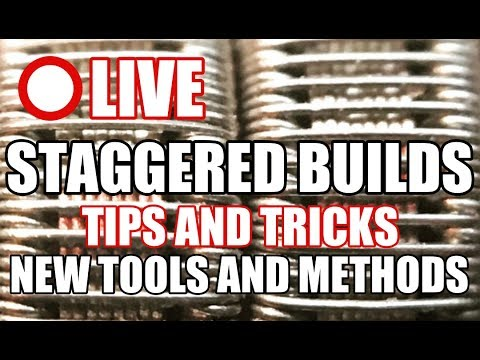 LIVE - STAGGERED FRAMED STAPLE / SPACED CLAPTON / NEW METHOD AND TOOLS - TIPS AND TRICKS -  COIL BUI