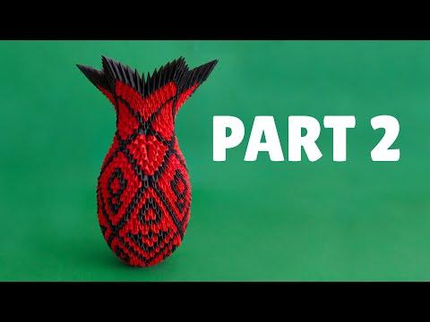 3D Origami Large Vase Tutorial - Part 2