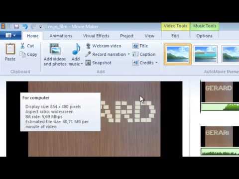 Film opslaan in Windows Moviemaker Live