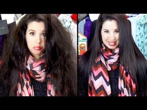 How To Get STRAIGHT, SILKY Frizz Free Hair! (FAST & EASY)