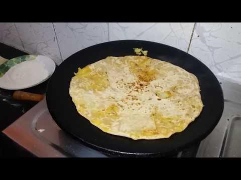 Aloo carrot stuffed  parota recipe  in Kannada