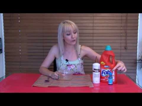 How To Make Slime with Wood Glue & Laundry Liquid - No Borax