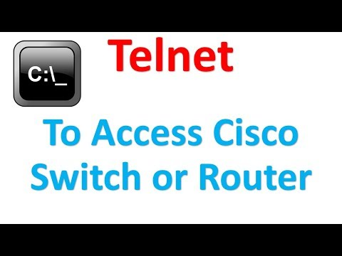 How to access Cisco switch or router using Telnet | Command Prompt