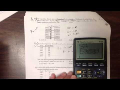 3-21-16 linear, quadratic, cubic, quartic equation of best fit