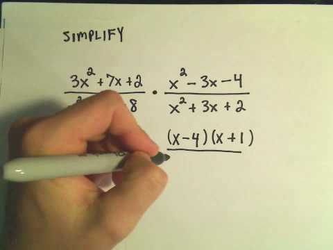 Rational Expressions:  Multiplying and Dividing.  Ex 2
