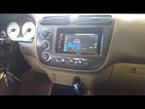 Civic 02 Doble din DVD Radio