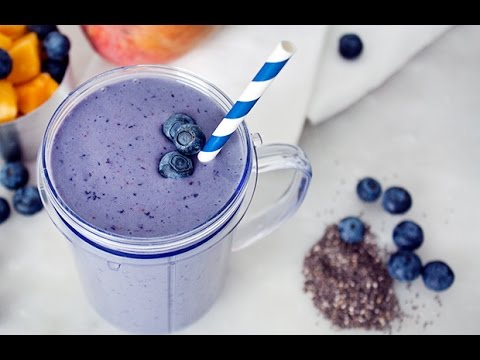 Chocolate Blueberry Protein Smoothie | Slice Of Fit
