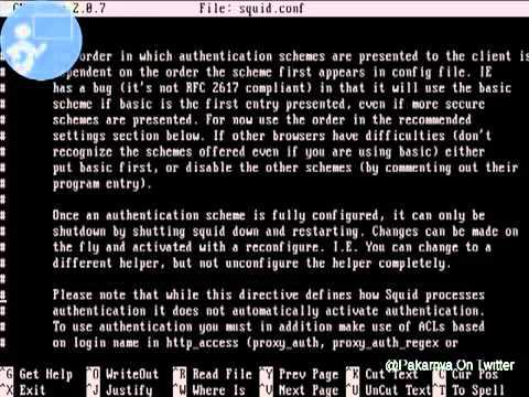 Tutorial instalasi proxy server di ubuntu
