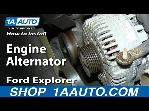 How To Install Replace Engine Alternator 4.6L V8 2002-10 Ford Explorer Mercury Mountaineer
