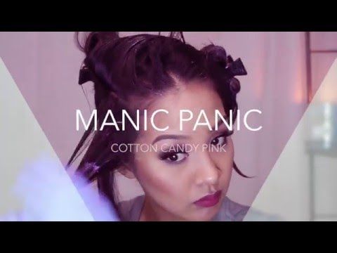 MANIC PANIC cotton candy pink HAIR TUTORIAL | xolaurenq