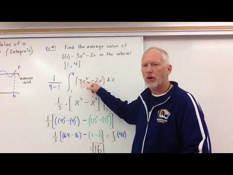 Average Value of a Function (Integrals)