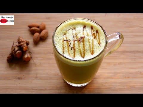 Dairy Free Turmeric Milk Recipe For Thyroid PCOS Weight Loss - Vegan Golden Milk Recipe -Haldi Doodh