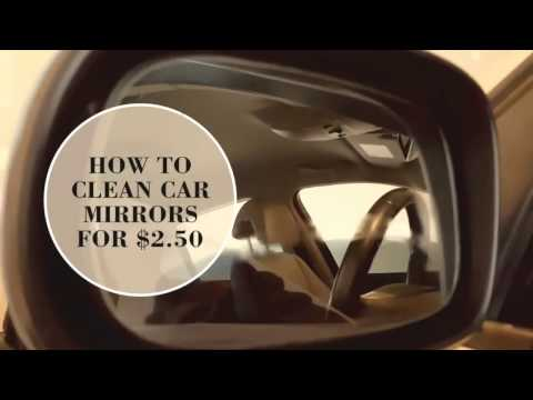 How to remove water spots on the mirrors for $2.50