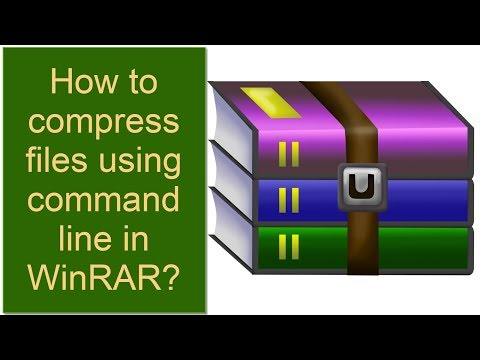 How to compress files using command line in WinRAR? | winrar command line compression level | WinRAR