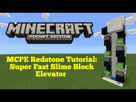 Minecraft Pocket Edition Redstone Tutorial: Super Fast Translocation Elevator (MCPE 1.1.0)