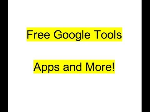 Free Google Tips, Tools and Apps