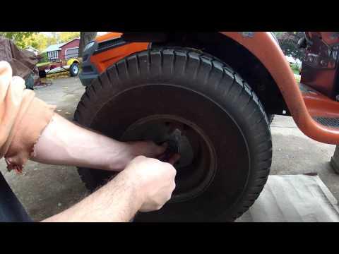 Husqvarna Lawn Tractor - rear tire removal