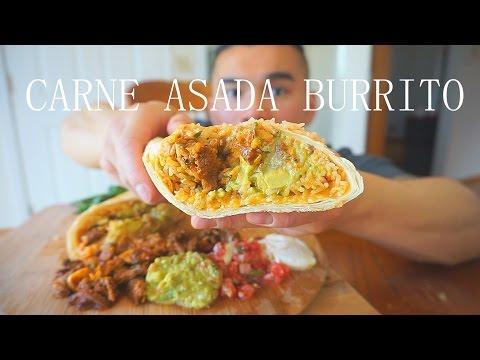 Carne Asada Burrito Recipe | MUKBANG | QT