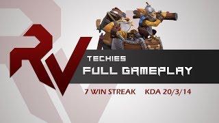 Divine 1 on smurf--7 Win Streak Techies--KDA-20-3-14 RobotVice Full Techies Roaming VOD