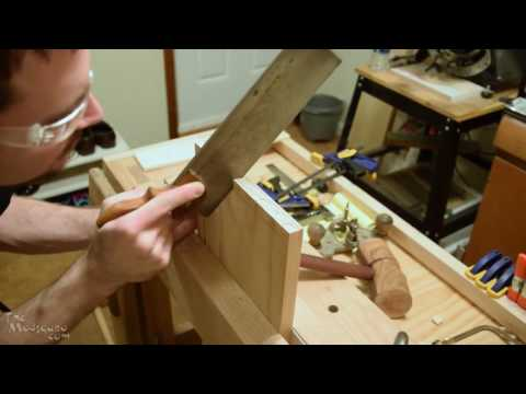 Making a Shadowbox Part 5 - Cutting Half Blind Dovetails