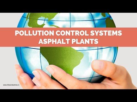 Pollution control systems of asphalt plants