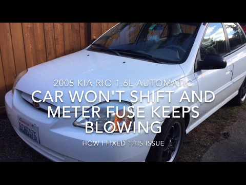 How to fix Locked shifter on KIA and Hyundai (blowing meter fuse?)
