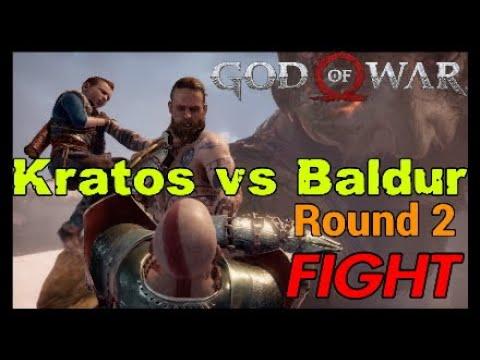 Kratos vs Baldur Round 2 GOD of WAR