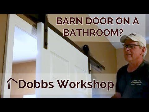 Installing a Barn Door Style Sliding Door on a Bathroom