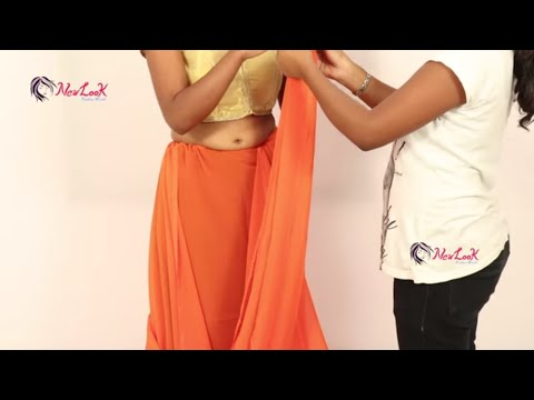 How to Drape A Plain Saree with Designer Blouse | New Look